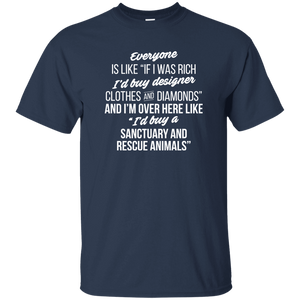 If I Was Rich - T Shirt Rescuers Club