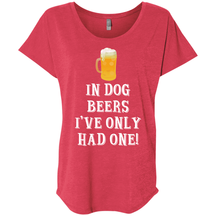 In Dog Beers I've Only Had One - Slouchy Tee Rescuers Club