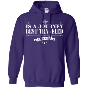 Life Is a Journey Best Travelled With Dogs - Hoodie Rescuers Club