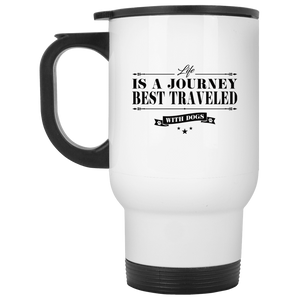 Life Is a Journey Best Travelled With Dogs - Mugs Rescuers Club