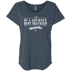 Life Is A Journey Best Travelled With Dogs - Slouchy Tees Rescuers Club