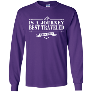 Life Is a Journey Best Travelled With Dogs - Sweatshirt Rescuers Club