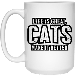Life Is Great Cats - Mugs Rescuers Club