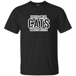 Life Is Great Cats - T Shirt Rescuers Club