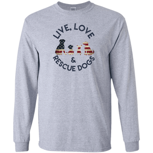 Live Love and Rescue Dogs - Long Sleeve Rescuers Club