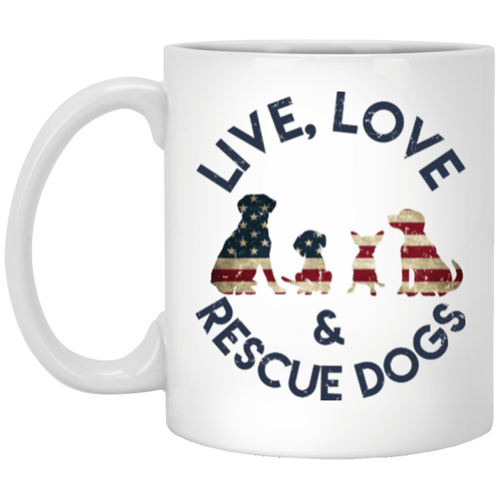 Live Love and Rescue Dogs - Mugs Rescuers Club