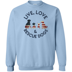 Live Love and Rescue Dogs - Sweatshirt Rescuers Club