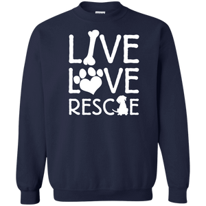 Live Love Rescue - Sweatshirt Rescuers Club