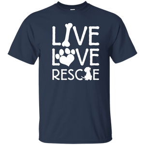 Live Love Rescue - T Shirt Rescuers Club