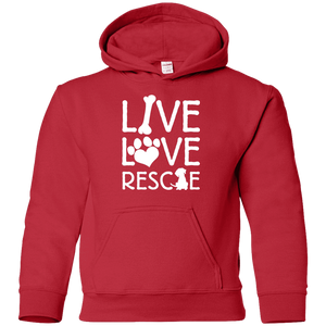 Live Love Rescue - Youth Hoodie Rescuers Club