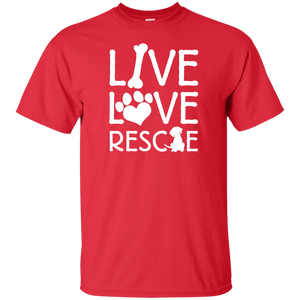Live Love Rescue - Youth T Shirt Rescuers Club