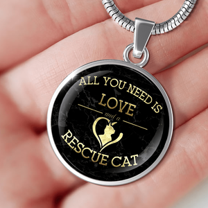 Love And A Rescue Cat - Pendant Rescuers Club