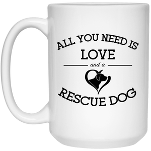 Love and a Rescue Dog - Mugs Rescuers Club
