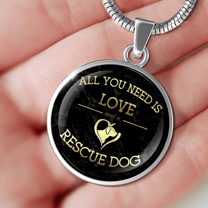 Love And A Rescue Dog - Pendant Rescuers Club
