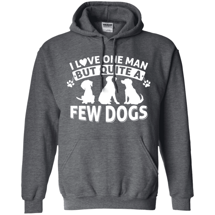 Love One Man and a Few Dogs - Hoodie Rescuers Club