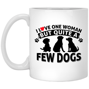 Love One Woman Few Dogs - Mugs Rescuers Club