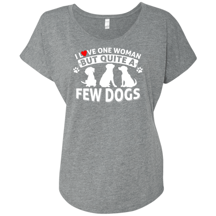 Love One Woman Few Dogs - Slouchy Tee Rescuers Club