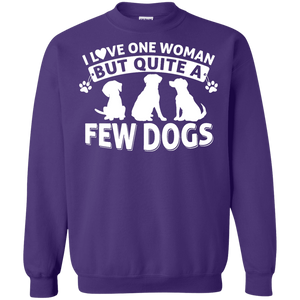 Love One Woman Few Dogs - Sweatshirt Rescuers Club