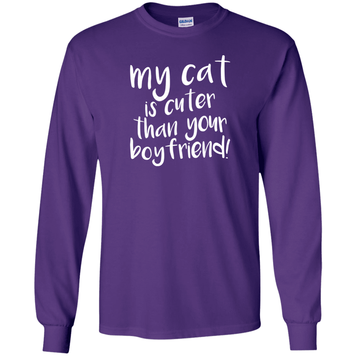My Cat Is Cuter Than Your Boyfriend - Long Sleeve T Shirt Rescuers Club