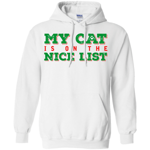 My Cat Is On The Nice List -  White Hoodie Rescuers Club