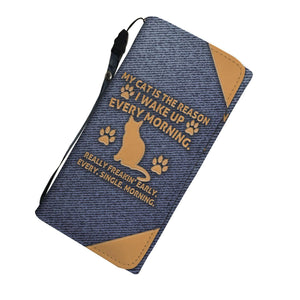 My Cat Is The Reason - Ladies Wallet/Purse Rescuers Club