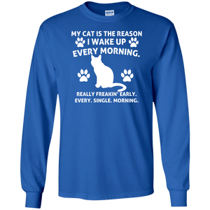 My Cat Is The Reason - Long Sleeve T shirt Rescuers Club