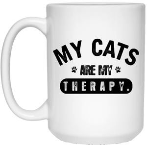 My Cats Are My Therapy - Mugs Rescuers Club
