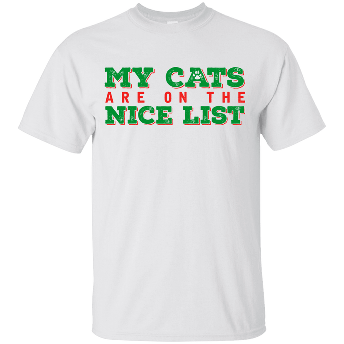 My Cats Are On The Nice List - White T-Shirt Rescuers Club