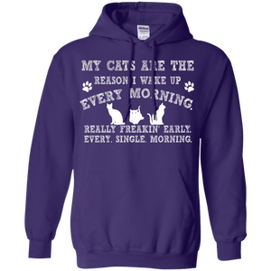 My Cats Are The Reason - Hoodie Rescuers Club