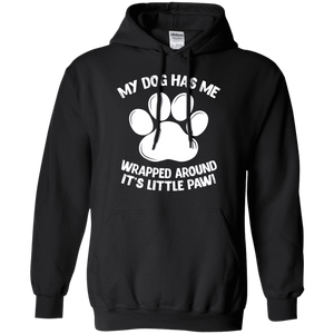 My Dog Has Me Wrapped Around It's Little Paw - Hoodie Rescuers Club