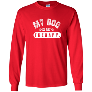 My Dog Is My Therapy - Long Sleeve T Shirt Rescuers Club