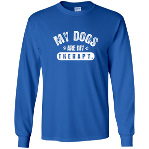 My Dogs Are My Therapy - Long Sleeve T Shirt Rescuers Club