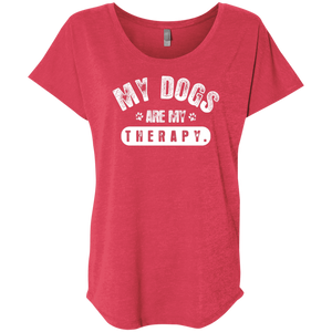 My Dogs Are My Therapy - Slouchy Tee Rescuers Club