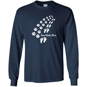Never Walk Alone - Long Sleeve T Shirt Rescuers Club