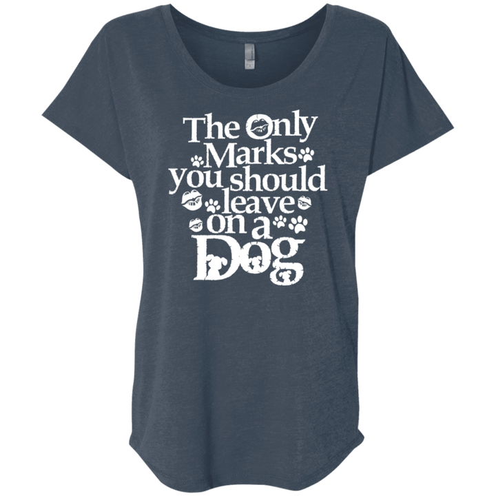 Only Marks You Should Leave On A Dog - Slouchy Tee Rescuers Club