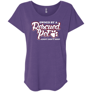 Owned By A Rescued Pet - Slouchy Tee Rescuers Club
