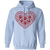 Load image into Gallery viewer, Pawprint Heart - Hoodie Rescuers Club