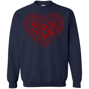 Pawprint Heart - Sweatshirt Rescuers Club
