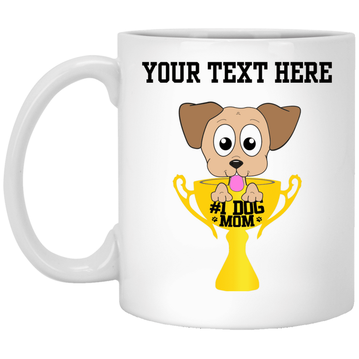 Personalized #1 Dog Mom - Mugs Rescuers Club
