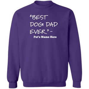 Personalized Best Dog Dad Ever - Sweatshirt Rescuers Club