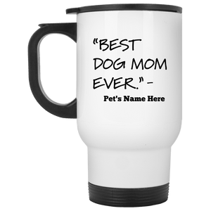 Personalized Best Dog Mom Ever - Mugs Rescuers Club