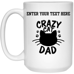 Personalized Crazy Cat Dad - Mugs Rescuers Club