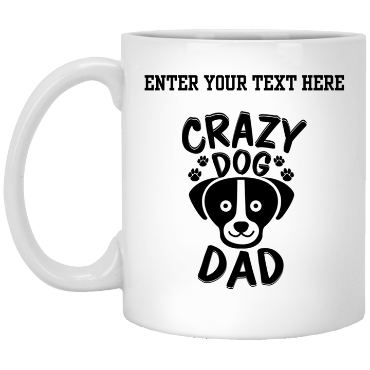 Personalized Crazy Dog Dad - Mugs Rescuers Club