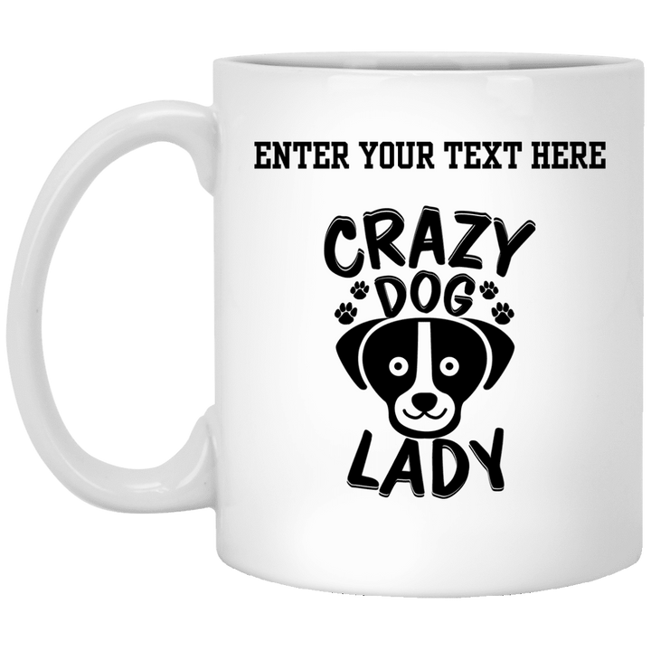 Personalized Crazy Dog Lady - Mugs Rescuers Club