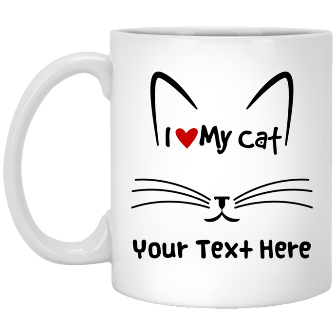 Personalized I Love My Cat - Mugs Rescuers Club