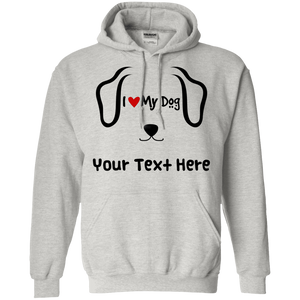 Personalized I Love My Dog - Hoodie Rescuers Club