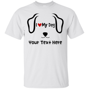 Personalized I Love My Dog - T Shirt Rescuers Club