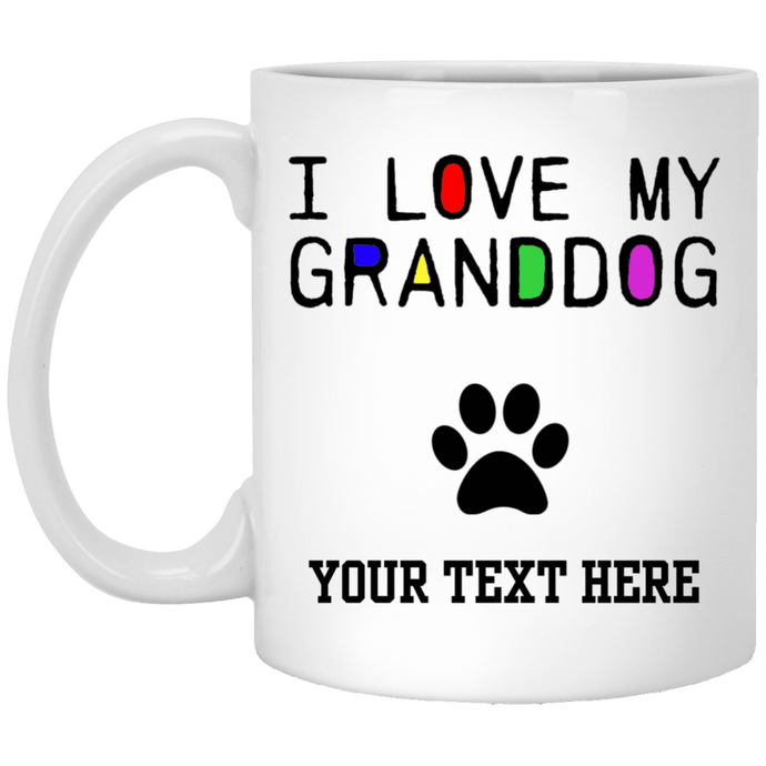 Personalized I Love My Granddog - Mugs Rescuers Club