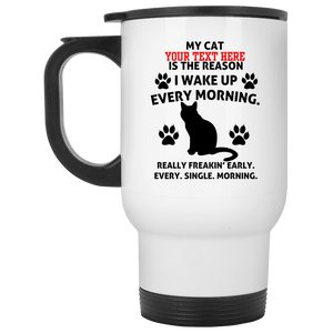 Personalized My Cat Is The Reason - Mugs Rescuers Club