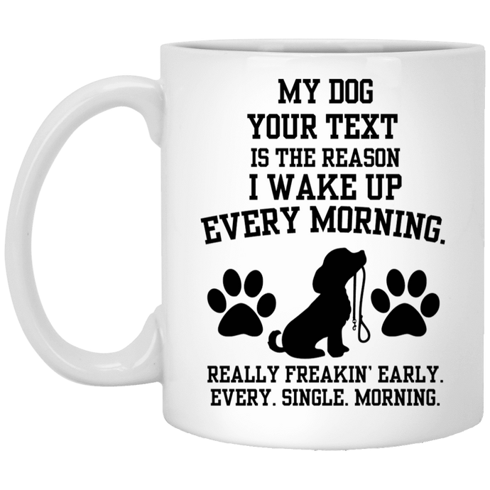 Personalized My Dog Is The Reason- Mugs Rescuers Club